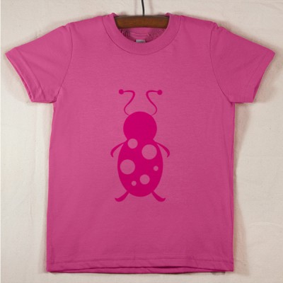Fuchsia T Shirt with Magenta Lady Bug