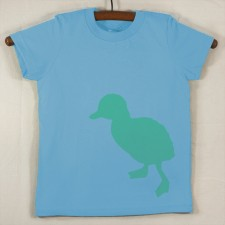 Baby Blue T Shirt with Green Duck