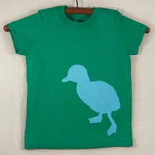 Kelly Green T Shirt with Blue Duck