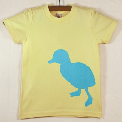 Lemon Yellow T Shirt with Blue Duck