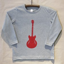 Grey Long Sleeve Guitar T Shirt