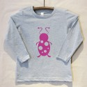 Grey Long Sleeve Lady Bug T Shirt
