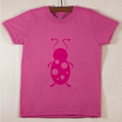 Fuchsia T Shirt with Magenta Lady Bug
