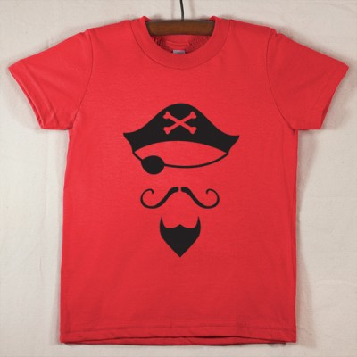 Red T Shirt with Pirate