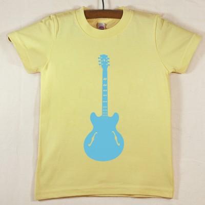 Lemon Yellow T Shirt with Blue Guitar